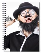 Woman In Mens Clothes With Service Bell Spiral Notebook