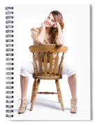 Woman Posing On Chair Spiral Notebook