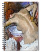 Woman Sponging Her Back Spiral Notebook
