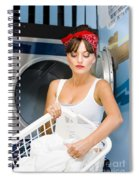 Woman Washing Clothes Spiral Notebook