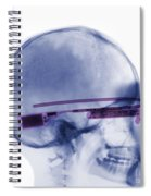 Woman Wearing Google Glass X-ray Spiral Notebook