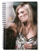 Woman With Butterfly In Net Spiral Notebook
