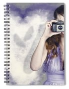Woman With Camera. Love In A Still Frame Capture Spiral Notebook
