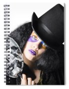 Woman With Mask Spiral Notebook