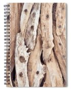 Wood Abstract Spiral Notebook