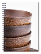 Wooden Bowls Isolated Spiral Notebook