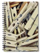 Wooden Clothes Pegs Spiral Notebook