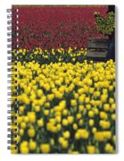 Worker Carrying Tulips Spiral Notebook