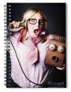 Worker In Shock During Bad News Communication Spiral Notebook