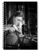 Working With The Hand Drill 1942 Spiral Notebook