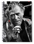 Writer Charles Bukowski On Tv Show Apostrophes In September 1978-2013 Spiral Notebook