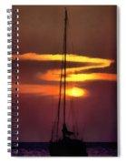 Yacht At Sunset Spiral Notebook
