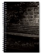 Ye Olde Bench In Bakewell Town Peak District - England Spiral Notebook