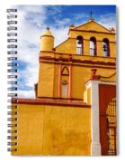Yellow Colonial Church Spiral Notebook