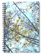 Yellow Leaves Vintage Spiral Notebook