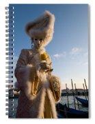 Venetian Carnival. Yellow Rose Charmer By Zina Zinchik Spiral Notebook
