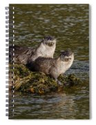 Yellowstone Otters Spiral Notebook