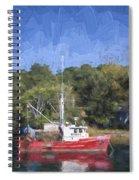 York Harbor Maine Painterly Effect Spiral Notebook