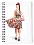 Young Beautiful Dancer Posing On White Background Spiral Notebook