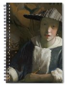 Young Girl With A Flute Spiral Notebook