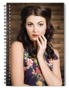 Young Girl With Perfect Skin Spiral Notebook