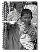 Young Monks Bw Spiral Notebook