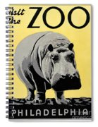 Zoo Poster C1936 Spiral Notebook