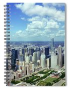 Aerial View Of A City, Chicago, Cook Spiral Notebook