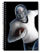 American Football Player Spiral Notebook