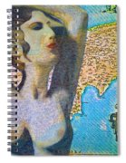Ancient Cyprus Map And Aphrodite Spiral Notebook