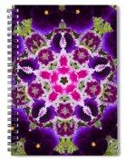 Flower Kaleidoscope Resembling A Mandala Spiral Notebook