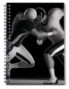 Football Collision Spiral Notebook