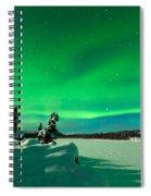 Intense Display Of Northern Lights Aurora Borealis Spiral Notebook