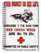 Red Cross Poster, C1917 Spiral Notebook