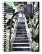 Staircase Leading To A Higher Level In Siloso Hotel In Sentosa Spiral Notebook