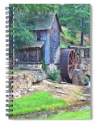Sixes Mill On Dukes Creek - Square Spiral Notebook