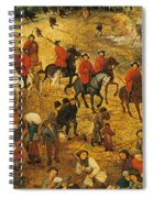 Ascent To Calvary, By Pieter Bruegel Spiral Notebook