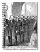 Johnson Impeachment, 1868 Spiral Notebook