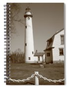 Lighthouse - Presque Isle Michigan Spiral Notebook