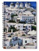 Mykonos Town Spiral Notebook