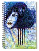 Vintage Hair Comb Spiral Notebook