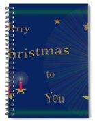 117 - Christmas Card Spiral Notebook