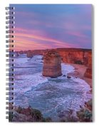 12 Apostles At Sunset Pano Spiral Notebook