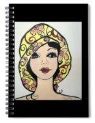 Flapper Girl Claire Spiral Notebook