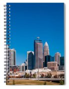 Charlotte City Skyline Autumn Season Spiral Notebook