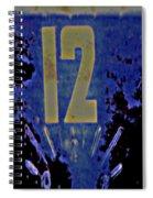12 In  Blue Spiral Notebook