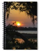 Lowcountry Spanish Moss Sunset Spiral Notebook