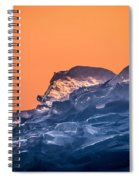 Icy Sunrise Spiral Notebook