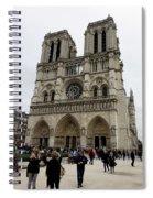 Notre Dame In Paris France Spiral Notebook