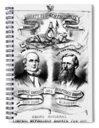 Presidential Campaign, 1872 Spiral Notebook